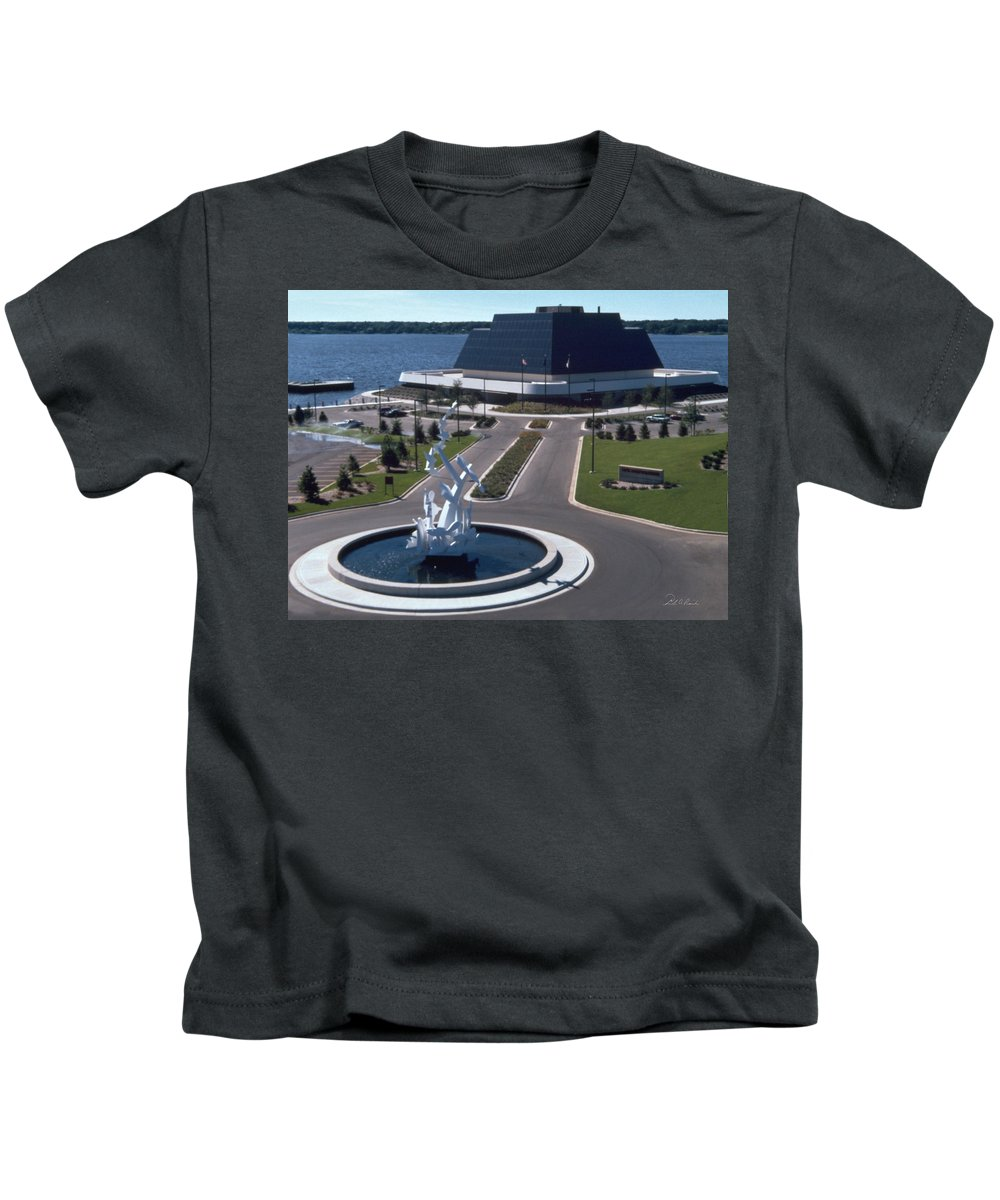 Photography Kids T-Shirt featuring the photograph Terrace Point Muskegon Michigan by Frederic A Reinecke