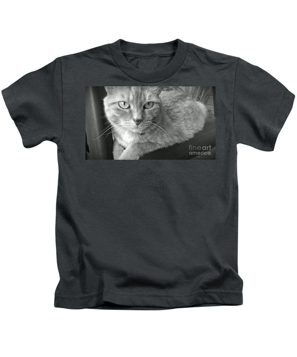 Cat Kids T-Shirt featuring the photograph That Spotted Nose by LKB Art and Photography