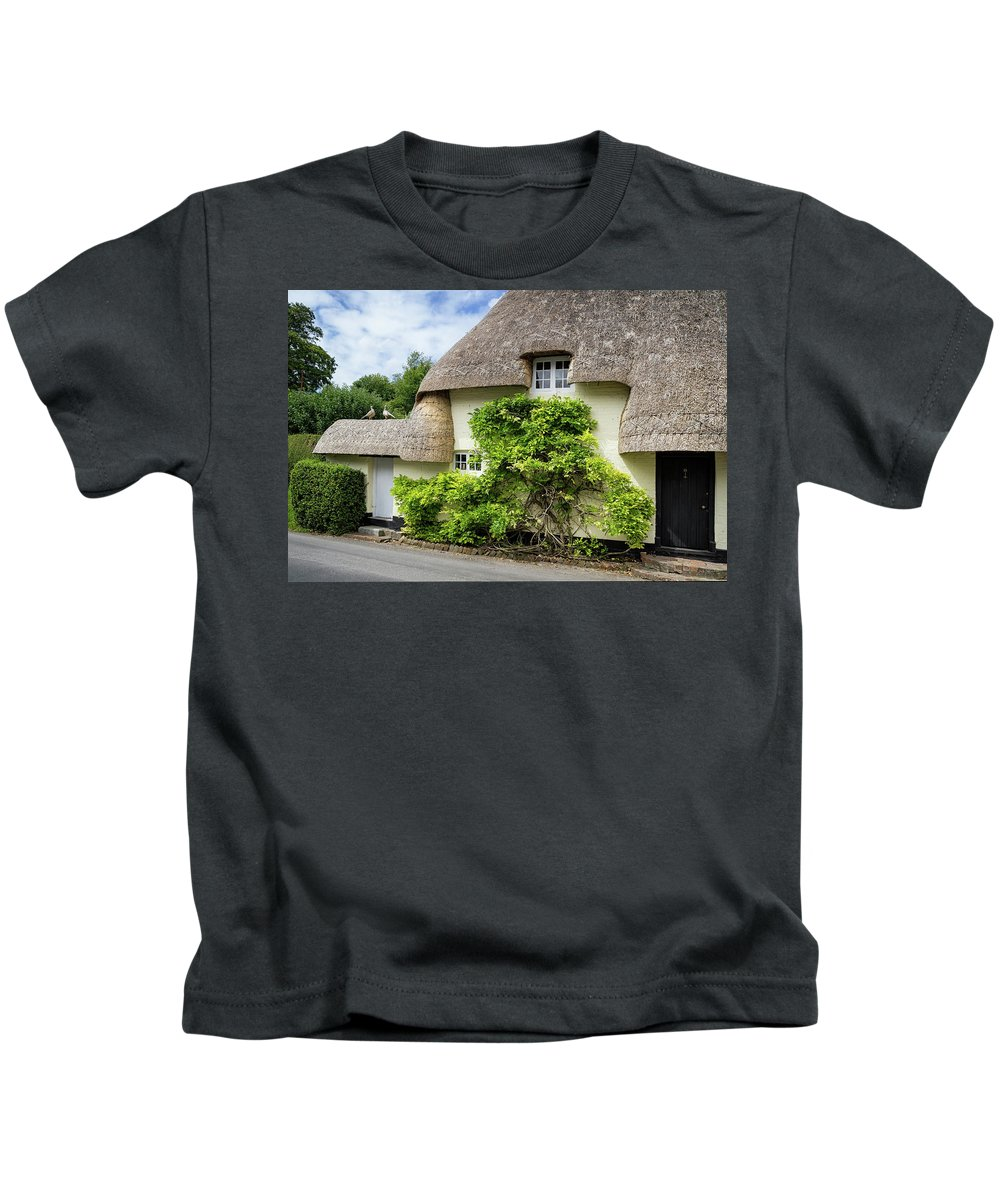 Cottage Kids T-Shirt featuring the photograph Thatched Cottages Of Hampshire 19 by Shirley Mitchell