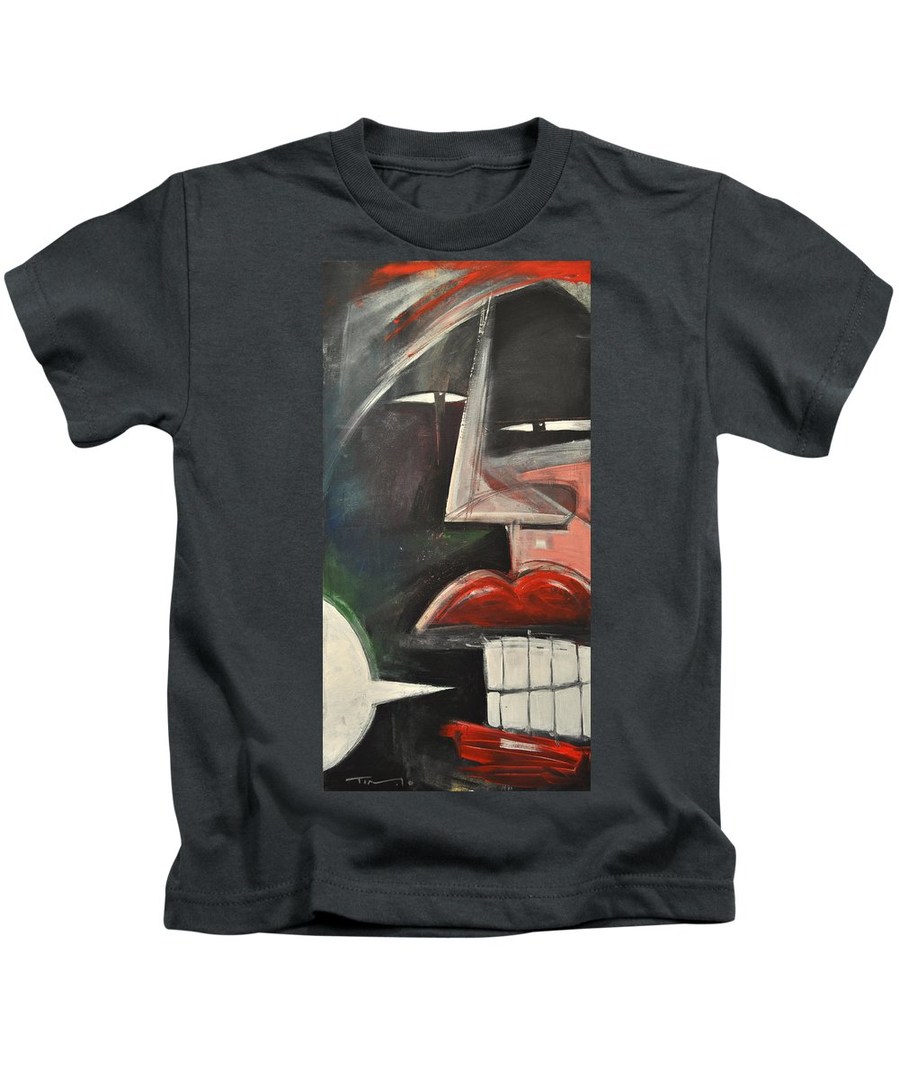 Lips Kids T-Shirt featuring the painting That's What She Said by Tim Nyberg