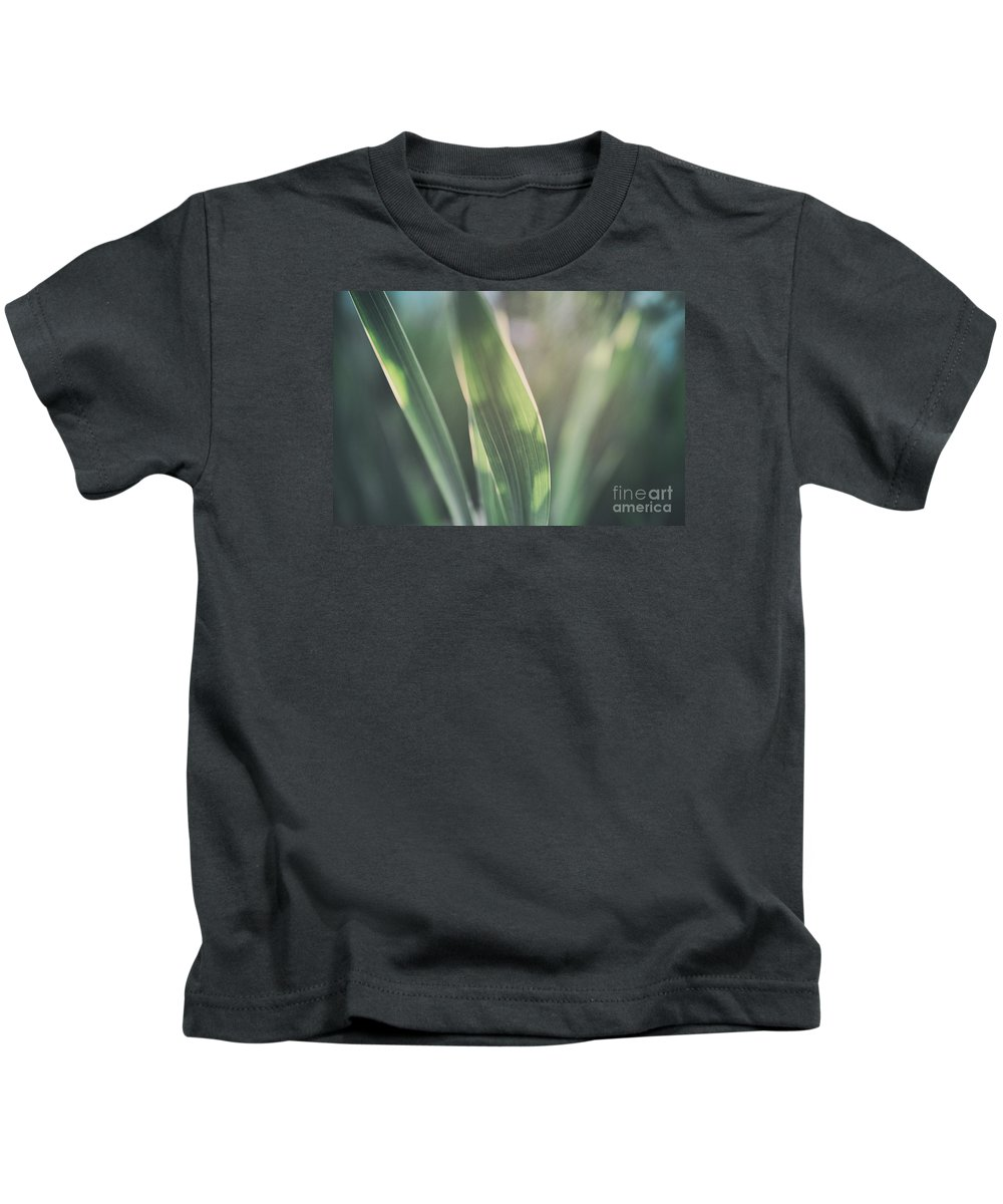 Allotment Kids T-Shirt featuring the photograph The Allotment Project - Sweetcorn Leaves by Clayton Bastiani