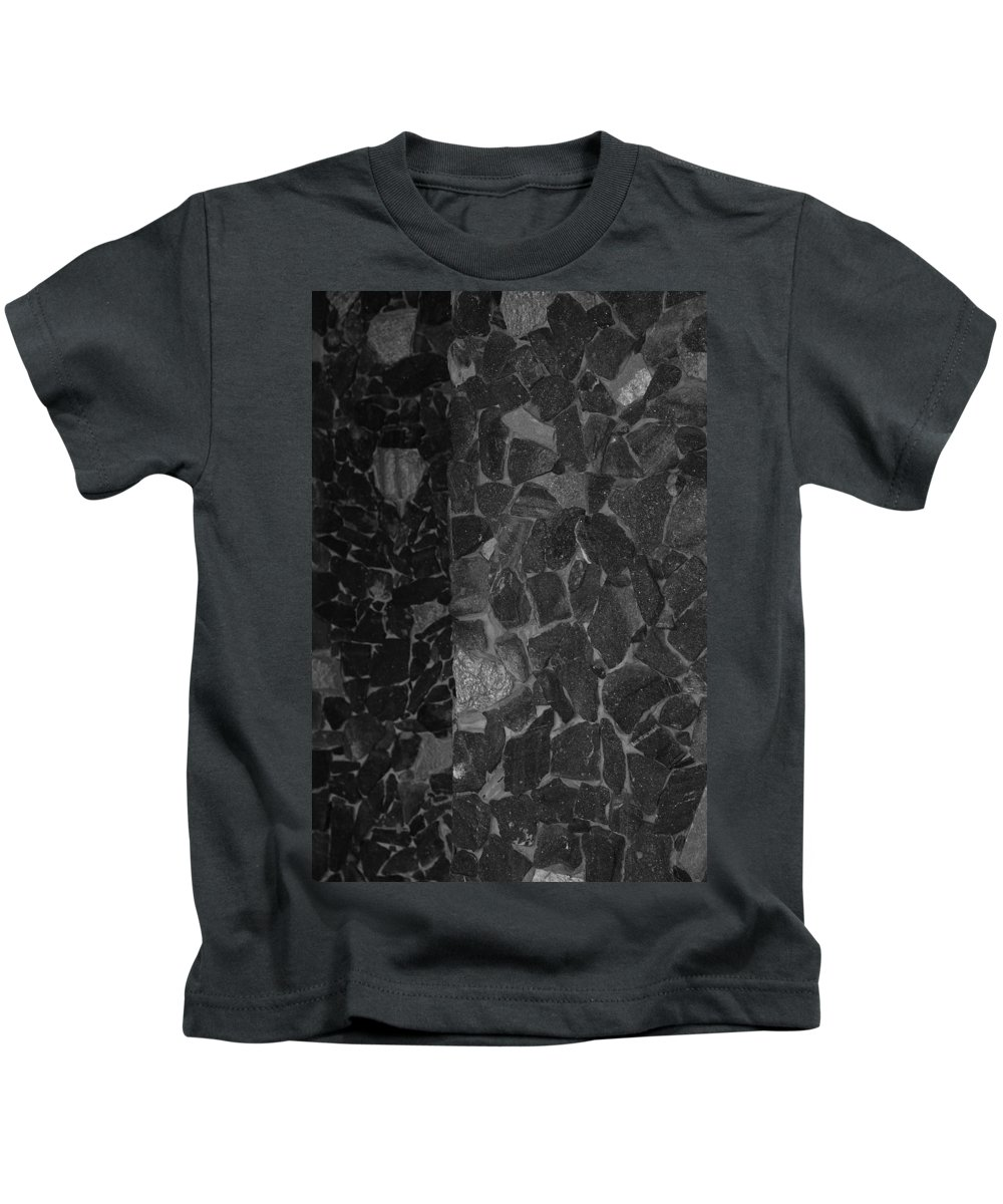 Black And White Kids T-Shirt featuring the photograph The B And W Wall by Rob Hans