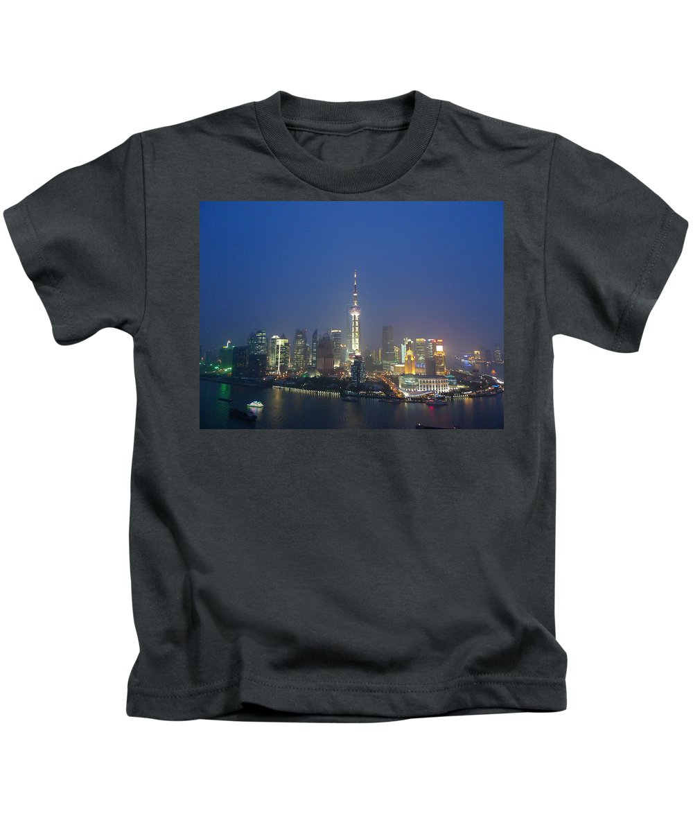 A View Of The Bund In Shanghai Kids T-Shirt featuring the photograph The Beautiful Bund, Shanghai, China by Shona Murray