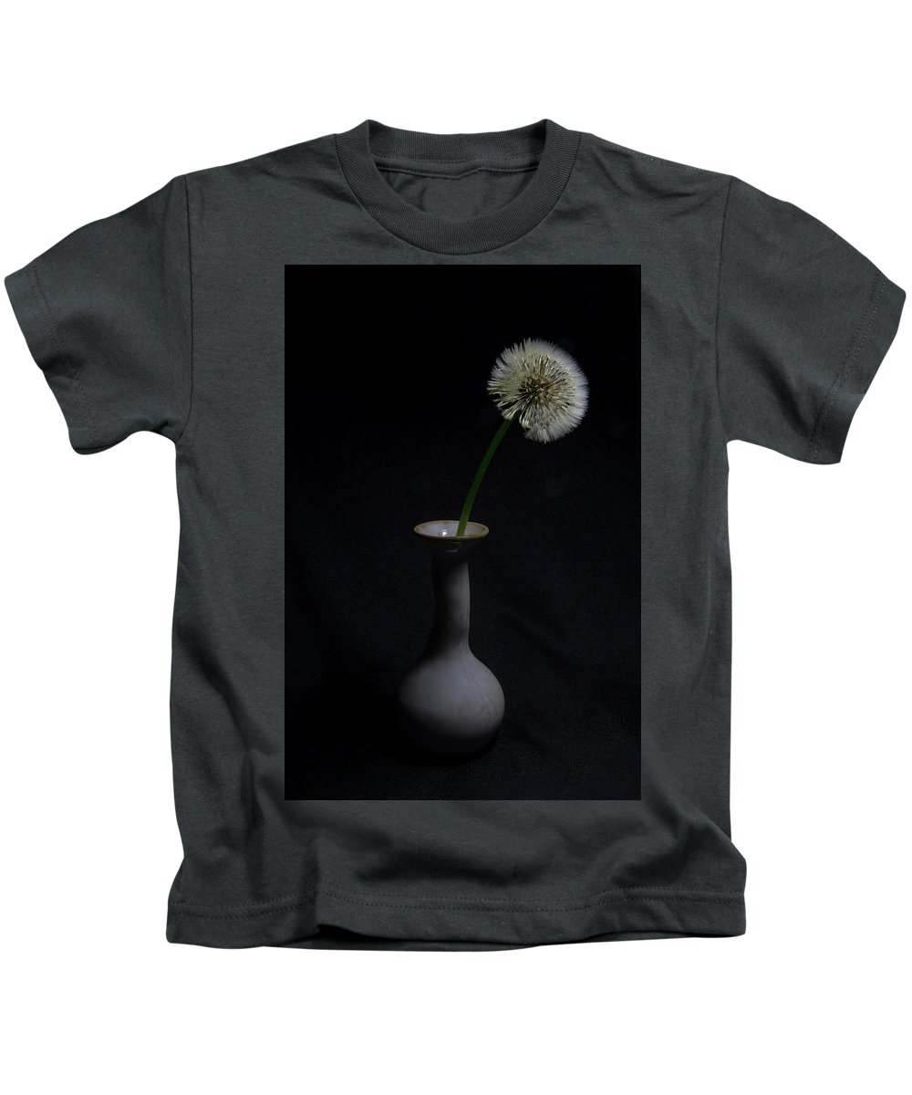 Dandelion In Vase Kids T-Shirt featuring the photograph The Beauty Of The Dandelion by Greg Thiemeyer