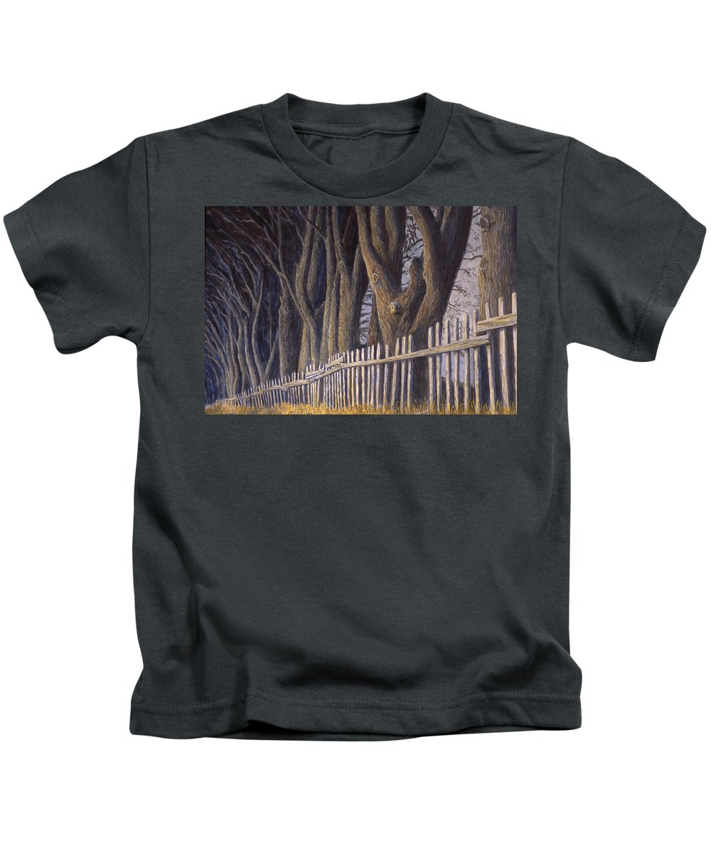 Bird House Kids T-Shirt featuring the painting The Bird House by Jerry McElroy