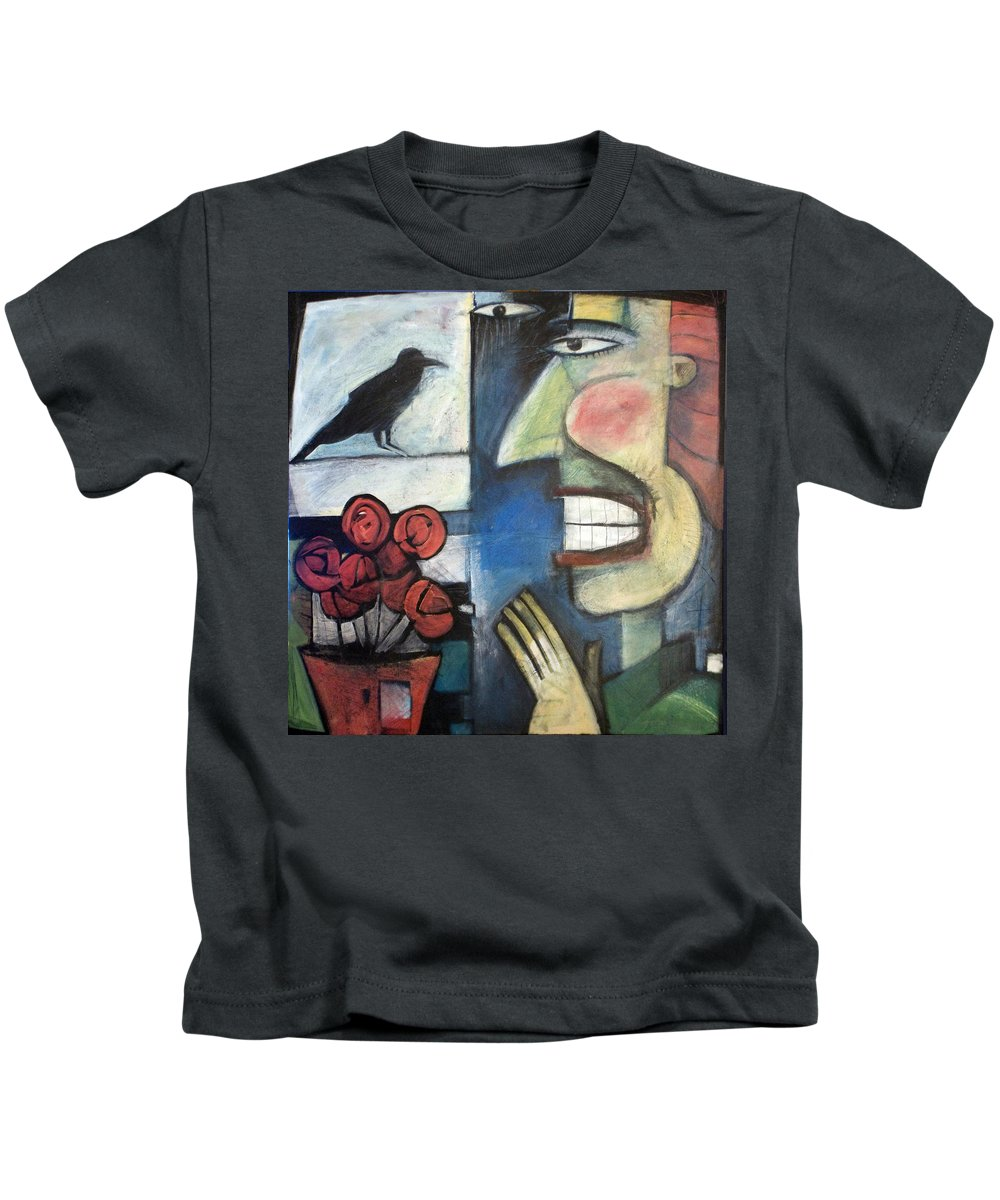 Bird Kids T-Shirt featuring the painting The Bird Watcher by Tim Nyberg