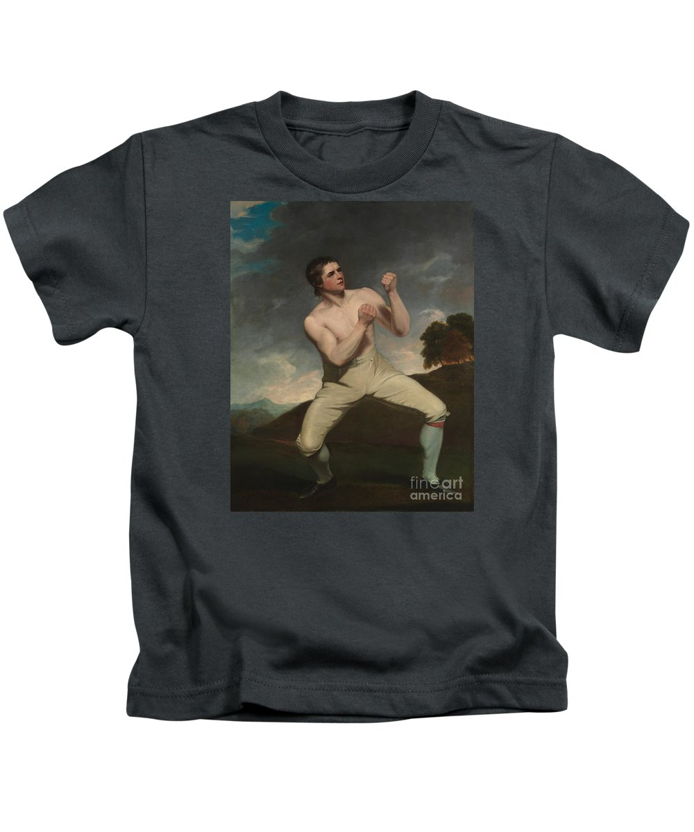 The Boxer Humphries Kids T-Shirt featuring the painting The Boxer Humphrie by MotionAge Designs