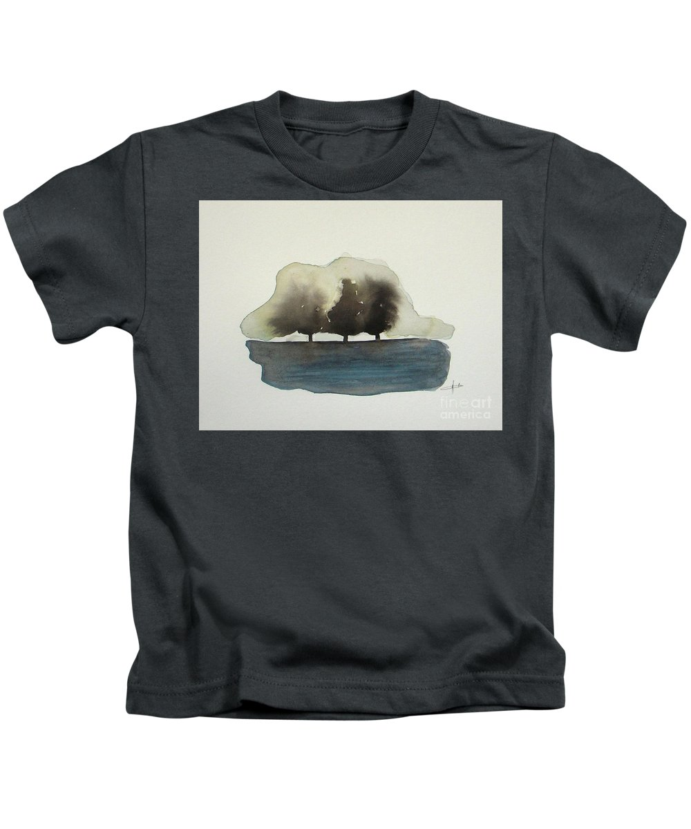 Abstract Kids T-Shirt featuring the painting The Breeze by Vesna Antic