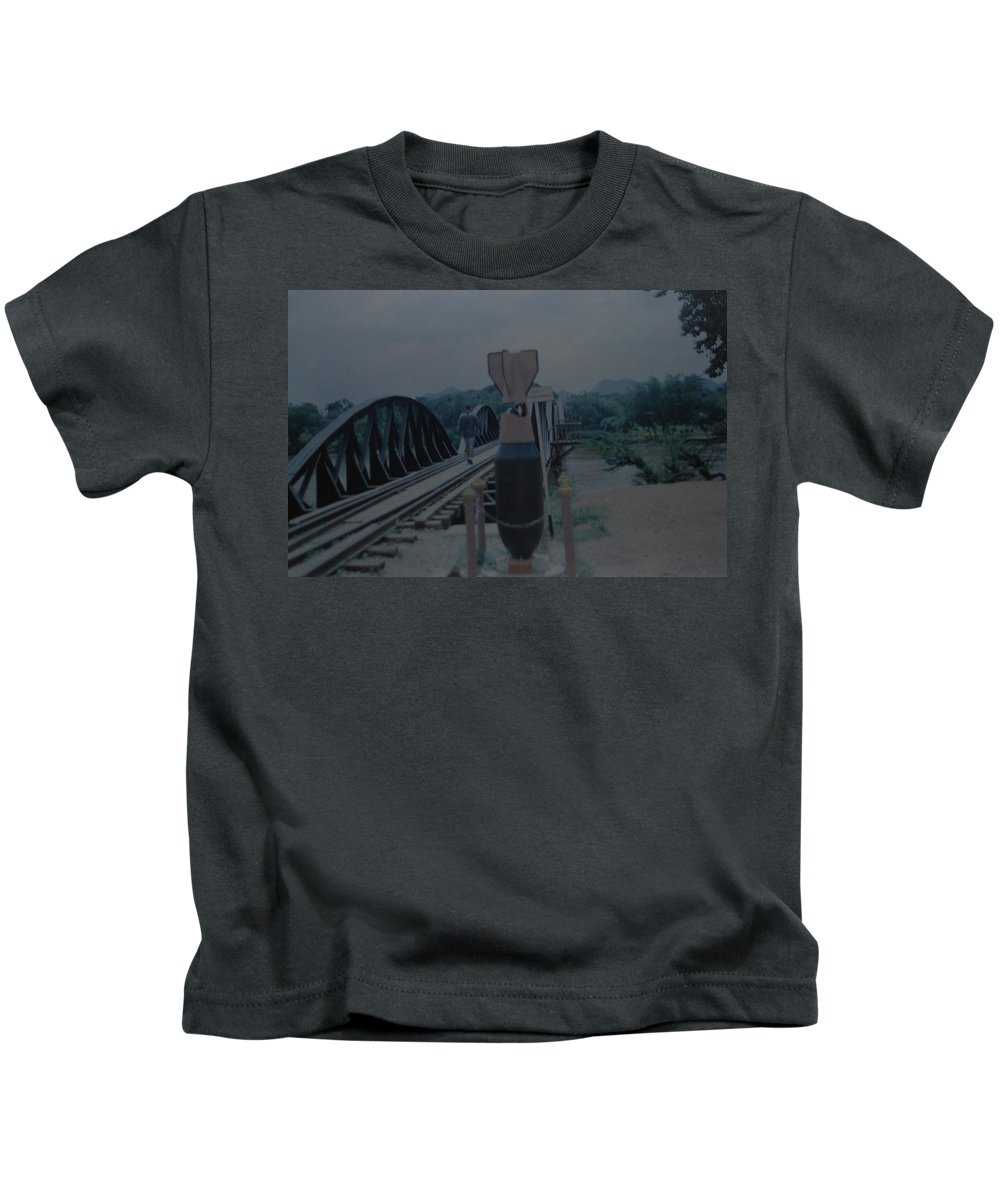 Bridge Kids T-Shirt featuring the photograph The Bridge On The River Kwai by Rob Hans