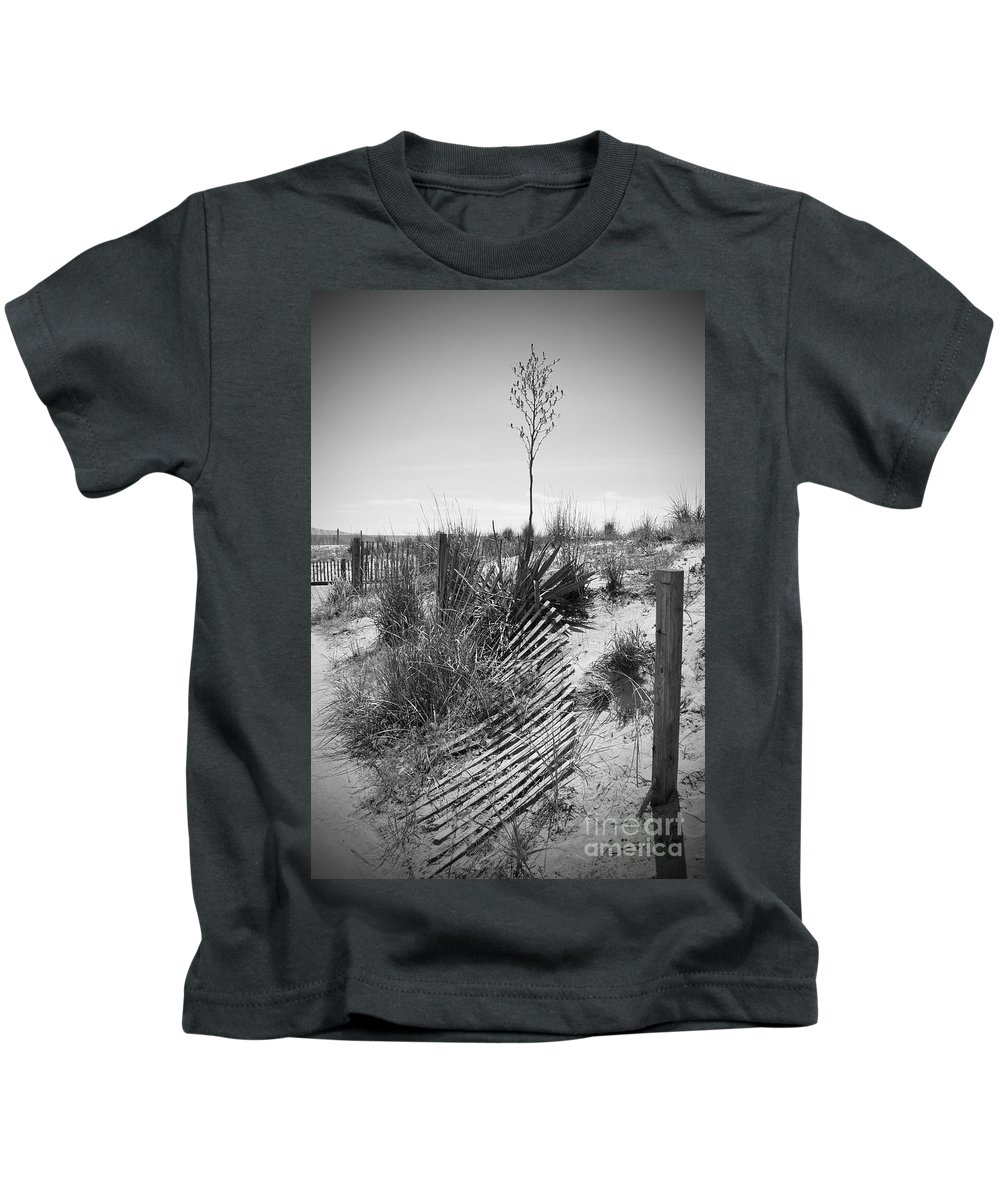 Rehoboth Kids T-Shirt featuring the photograph The Broken Fence by Jost Houk
