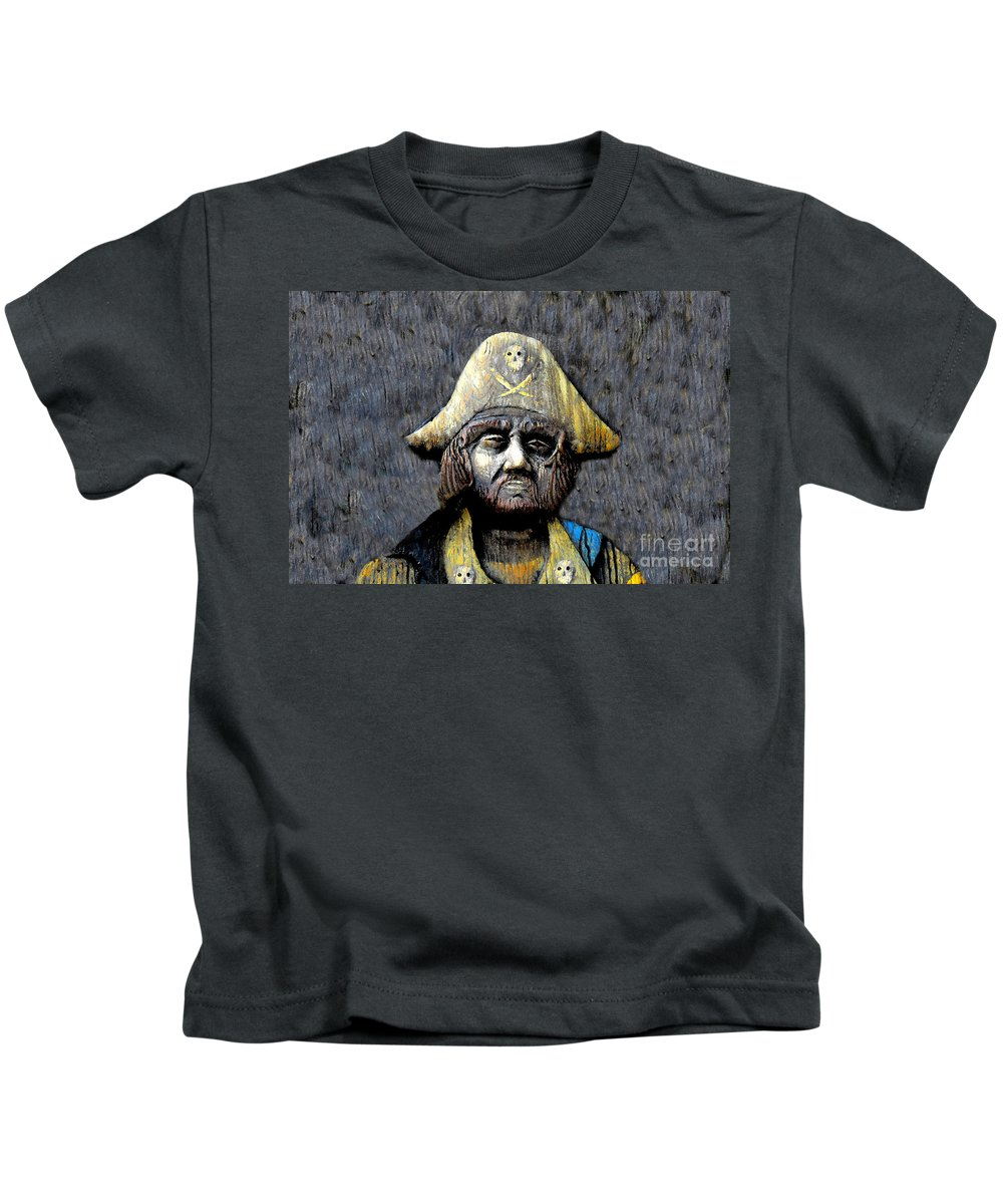 Buccaneer Kids T-Shirt featuring the painting The Buccaneer by David Lee Thompson