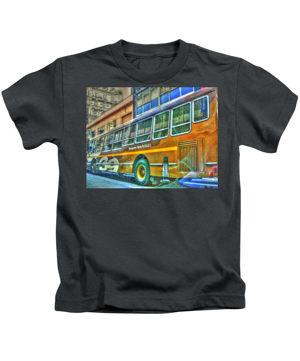 Bus Kids T-Shirt featuring the photograph The Bus by Francisco Colon