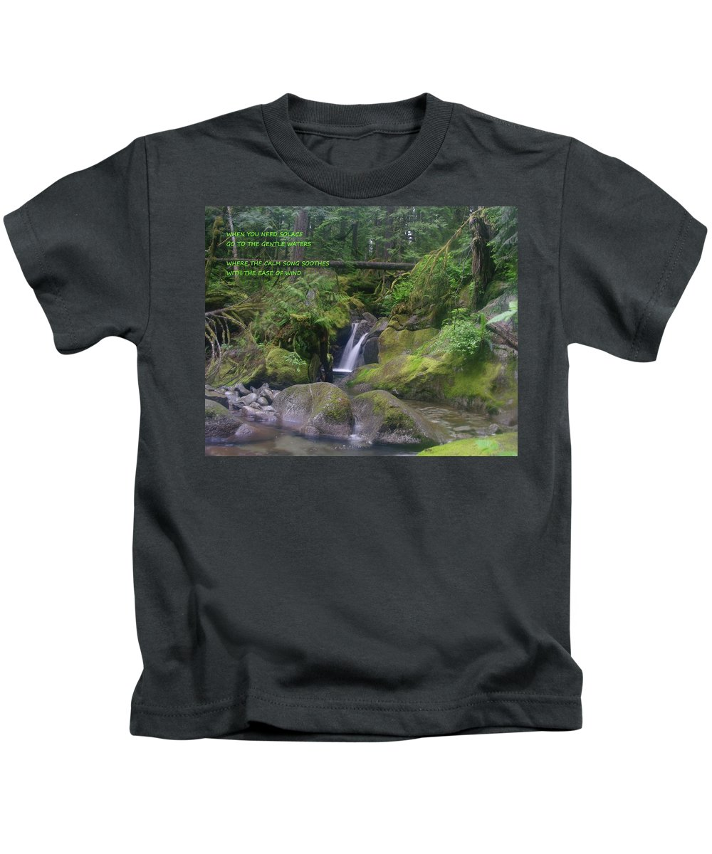 Waterfalls Kids T-Shirt featuring the photograph The Calm Waters by Jeff Swan