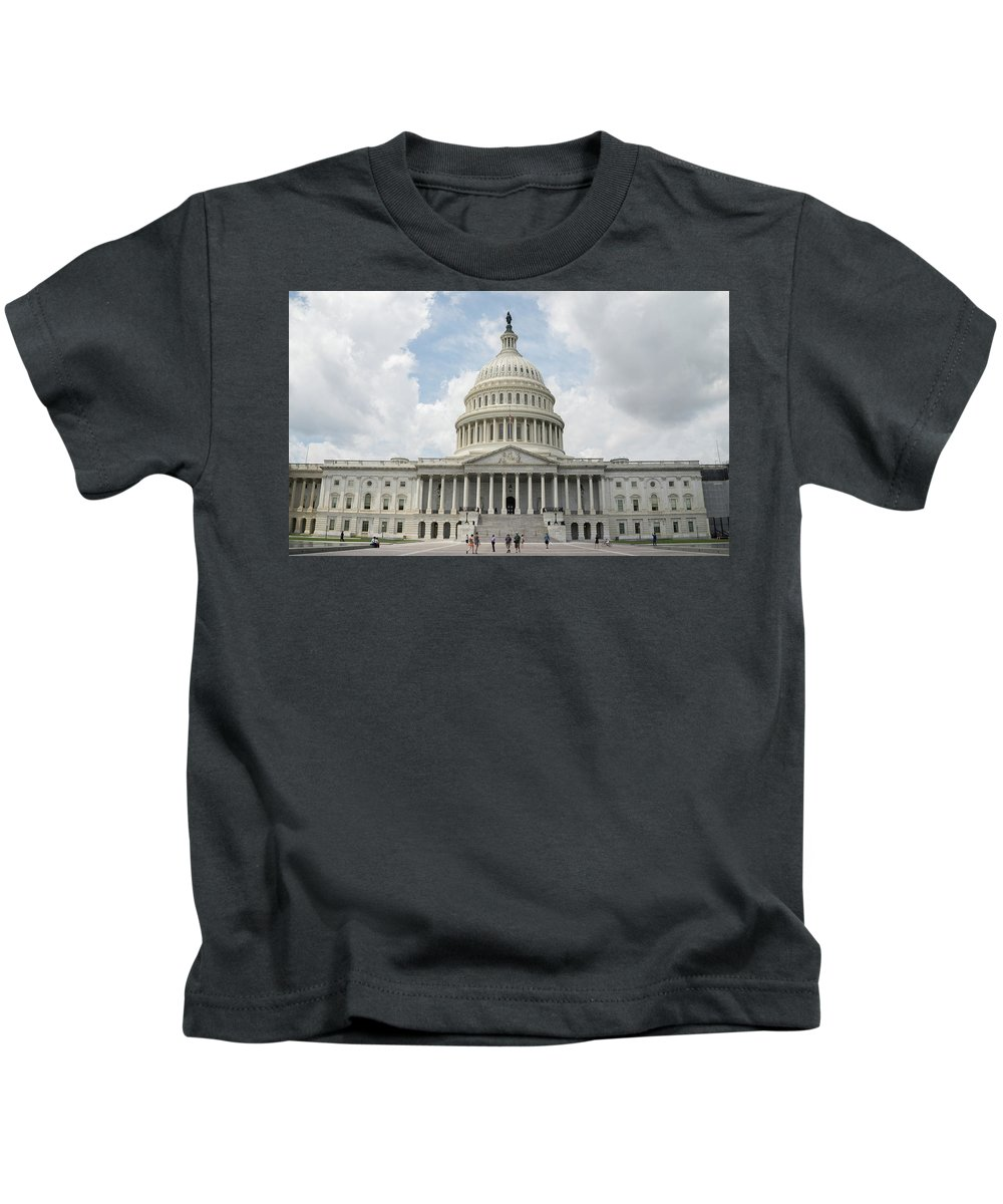 Kids T-Shirt featuring the photograph The Capitol by Jared Windler