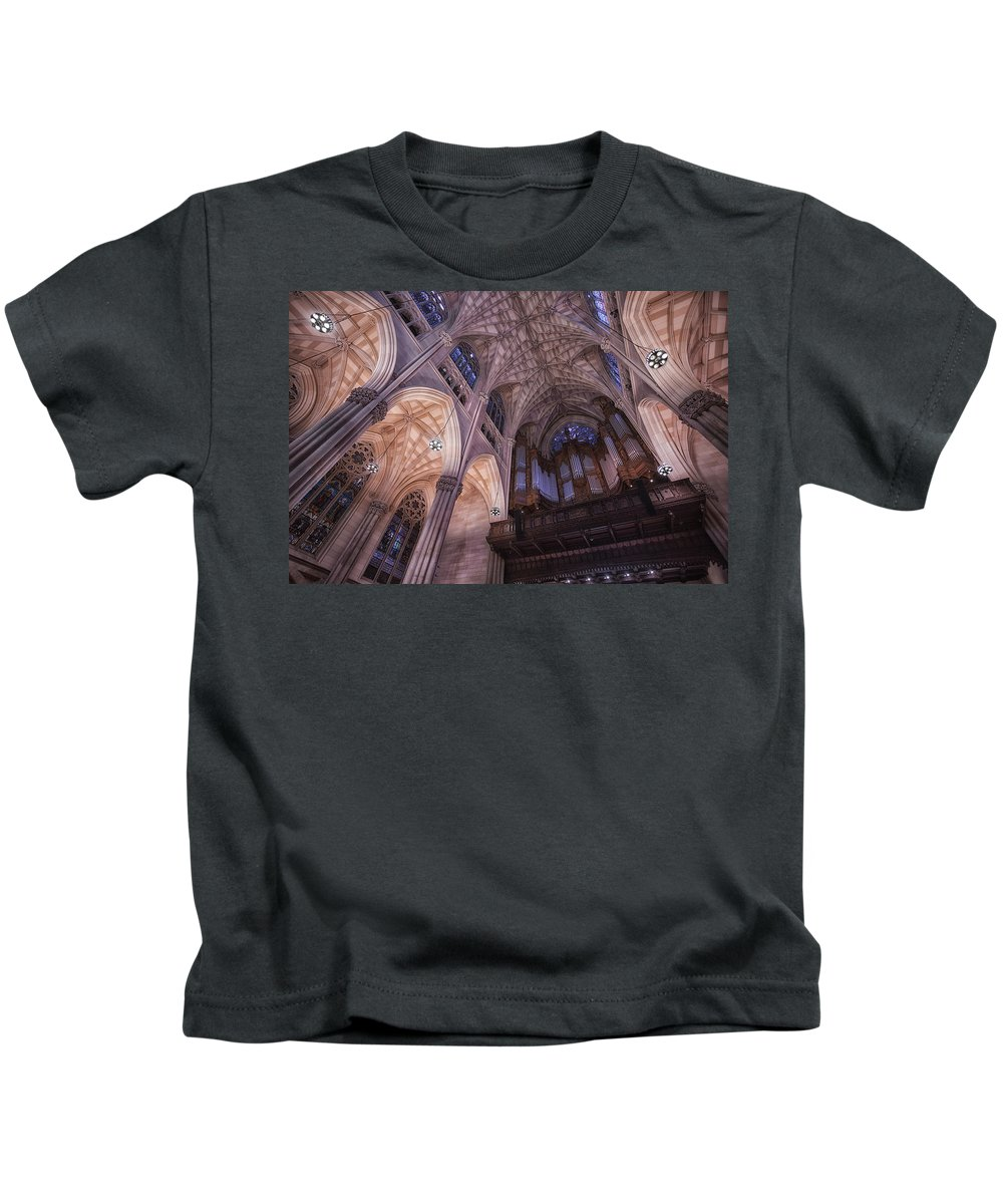 St. Patrick's Cathedral Kids T-Shirt featuring the photograph The Cathedral Of St. Patrick by Jerome Obille