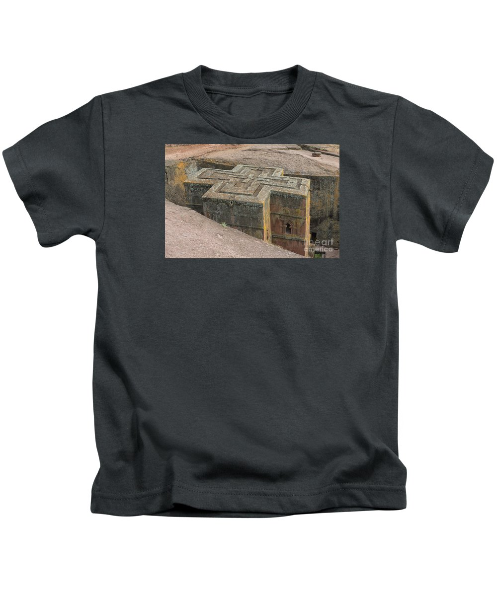 Church Of St. George Kids T-Shirt featuring the photograph The Church Of St. George In Lalibela, Ethiopia by Ivan Batinic