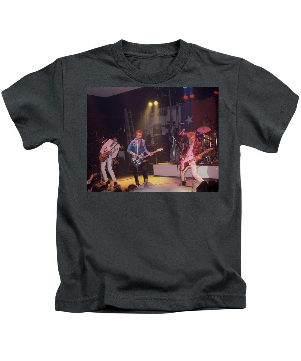 The Clash - 1978 - Music Machine In London Kids T-Shirt featuring the photograph The Clash - Music Machine 1978 by Dawn Wirth