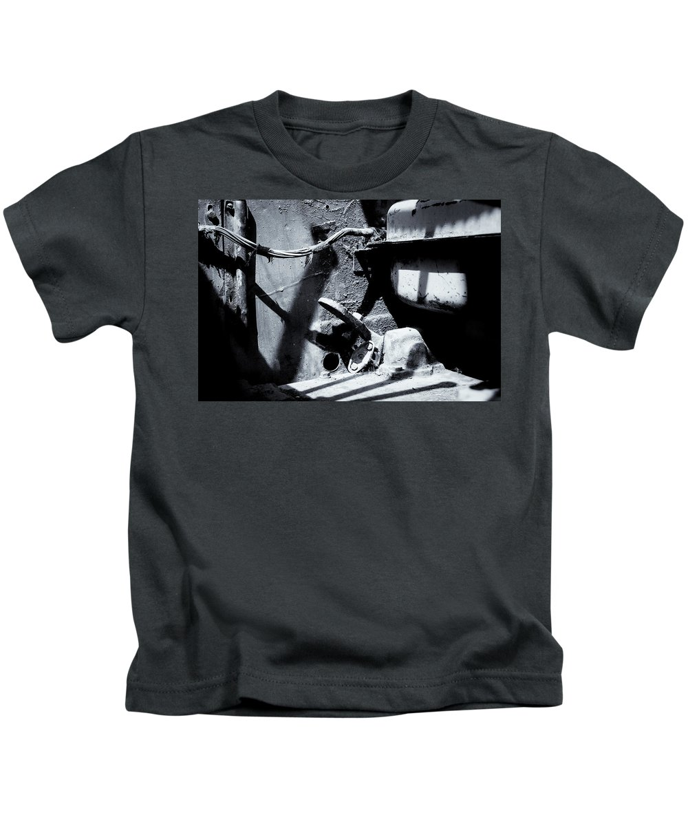 Vehicle Cabin Kids T-Shirt featuring the photograph The Cockpit Of Industry by John Williams