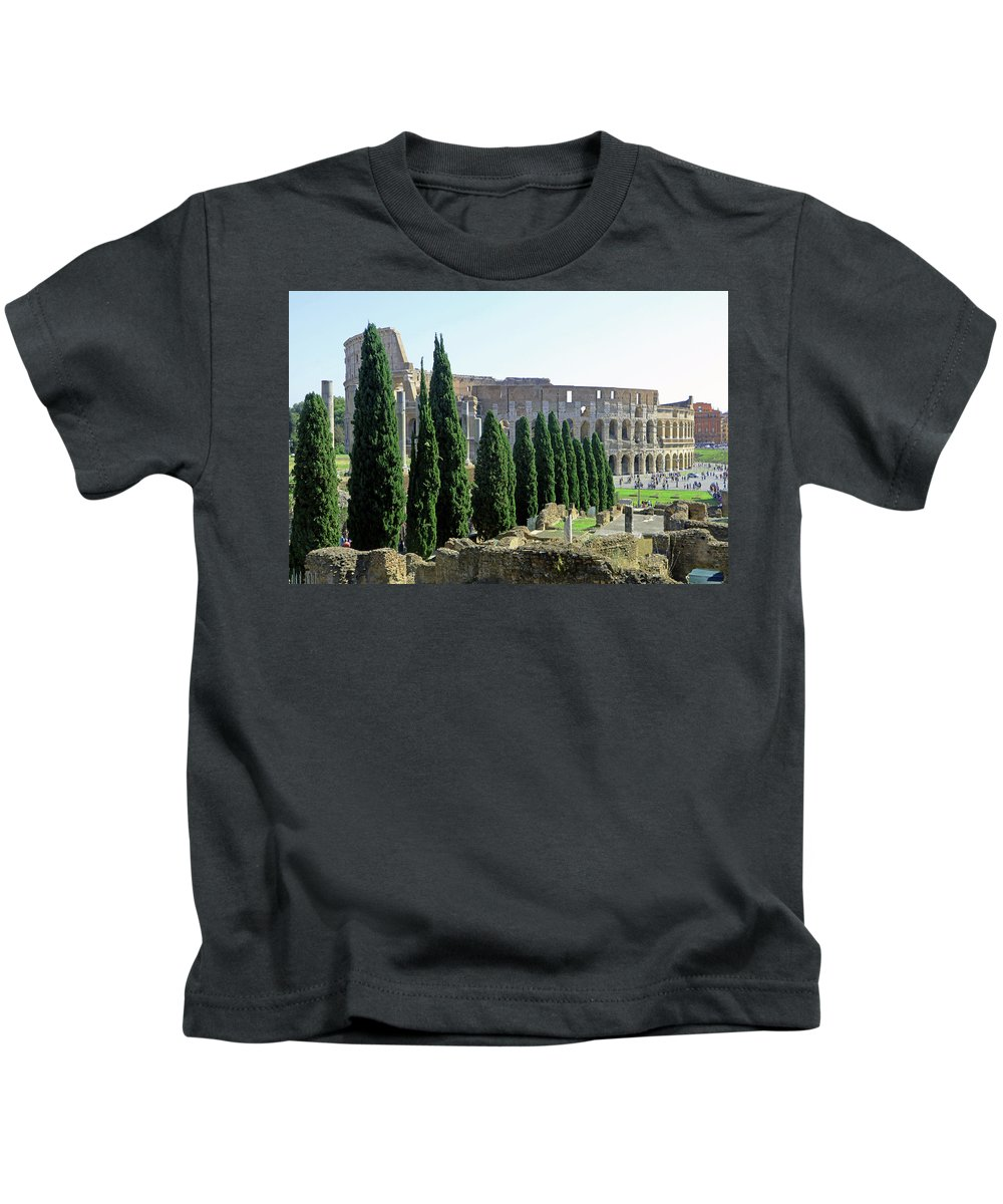 Coliseum Kids T-Shirt featuring the photograph The Coliseum by Tony Murtagh