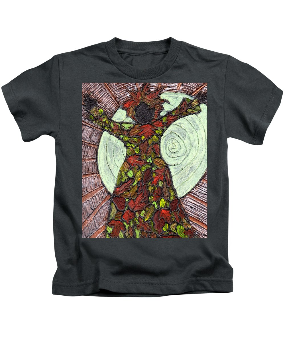 Autumn Kids T-Shirt featuring the painting The Coming Of Autumn by Wayne Potrafka