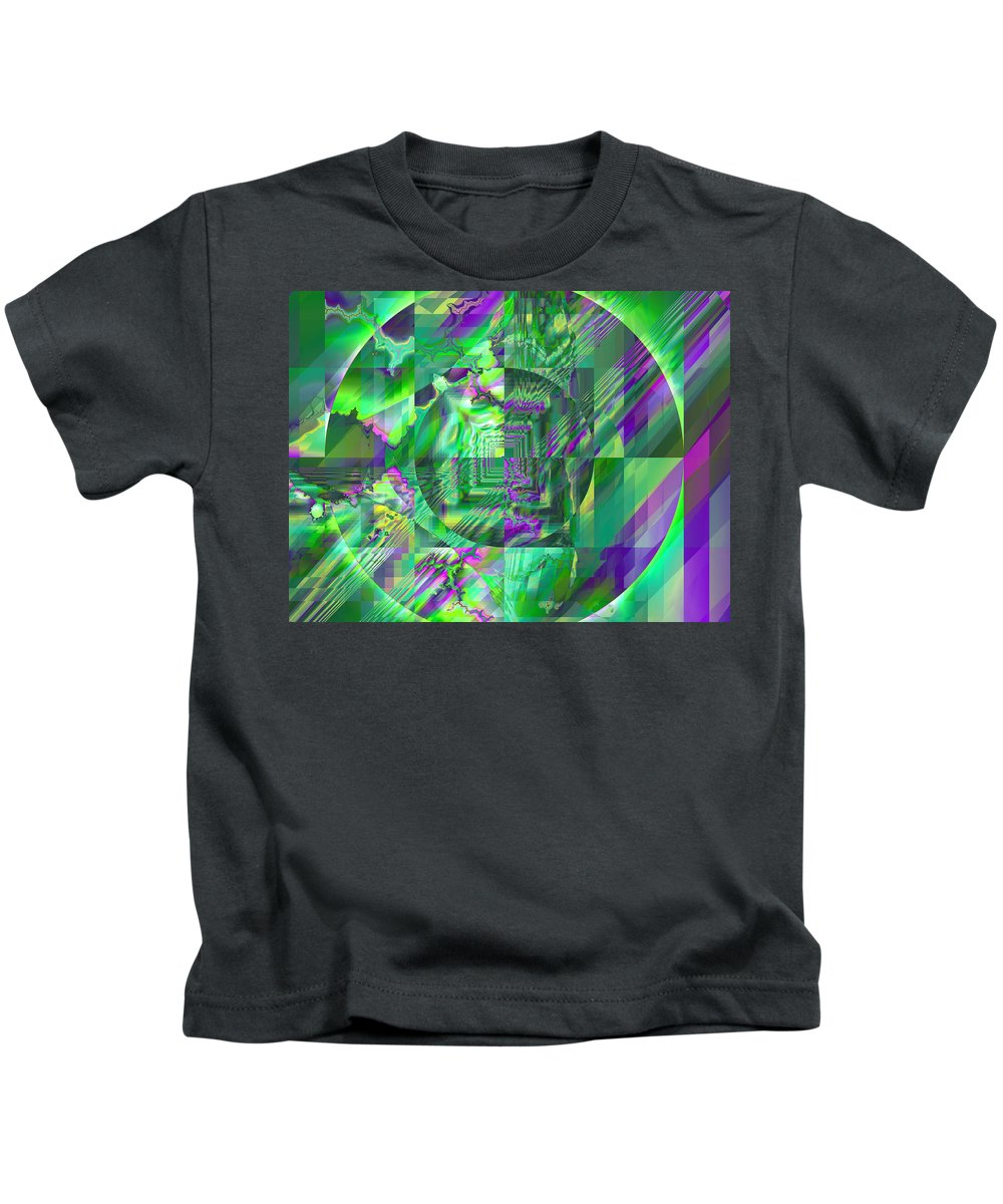 Fractal Kids T-Shirt featuring the digital art The Crazy Fractal by Frederic Durville