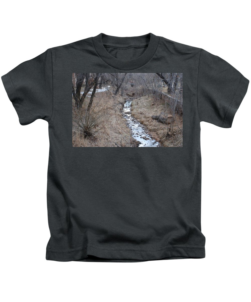 Water Kids T-Shirt featuring the photograph The Creek by Rob Hans
