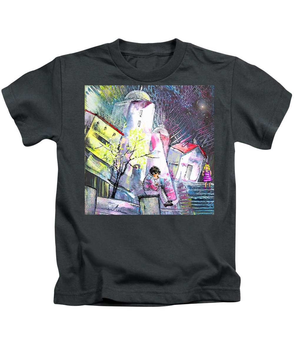 Fantasy Kids T-Shirt featuring the painting The Date by Miki De Goodaboom