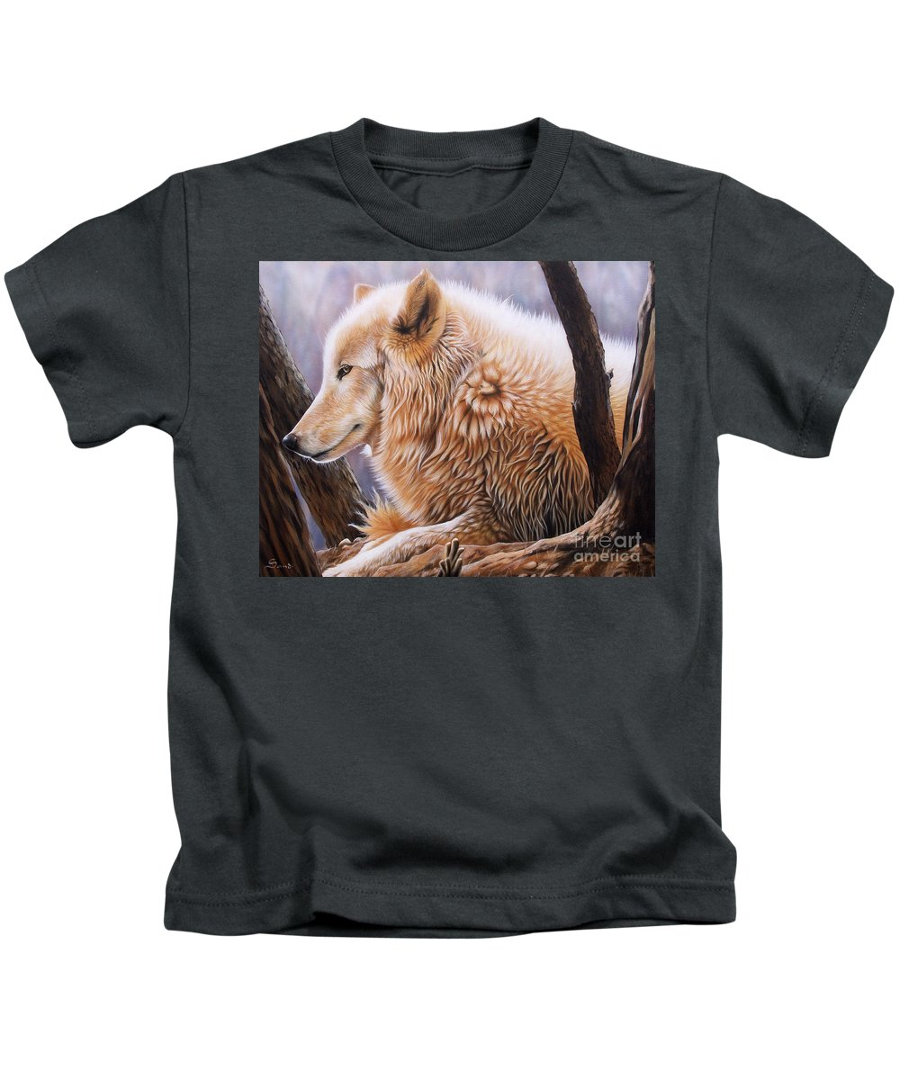 Acrylic Kids T-Shirt featuring the painting The Daystar by Sandi Baker