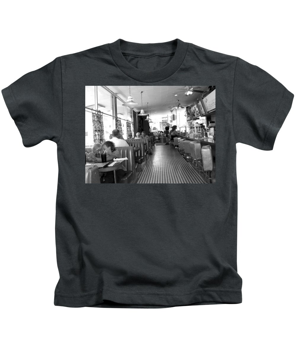 Diner Kids T-Shirt featuring the photograph The Diner by Wayne Potrafka