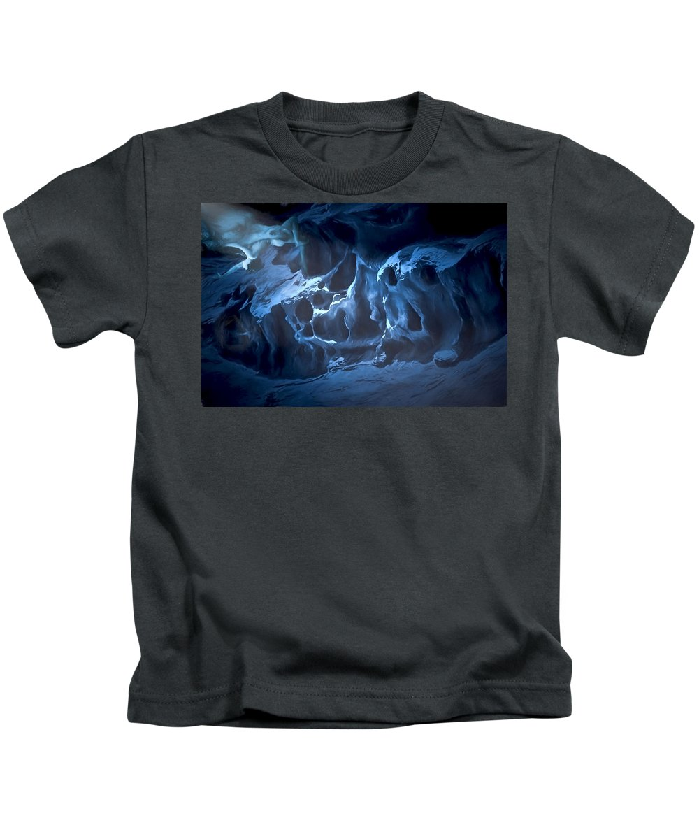 Fantasy Kids T-Shirt featuring the digital art The Dragon And The Maiden by John Haldane