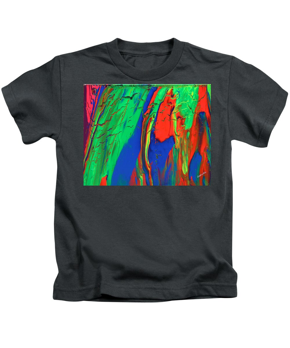 Fusionart Kids T-Shirt featuring the painting The Escape by Ralph White