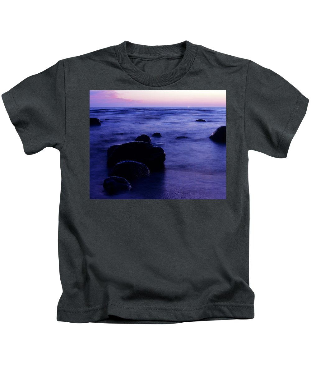 Abstract Kids T-Shirt featuring the photograph The Evening by Konstantin Dikovsky
