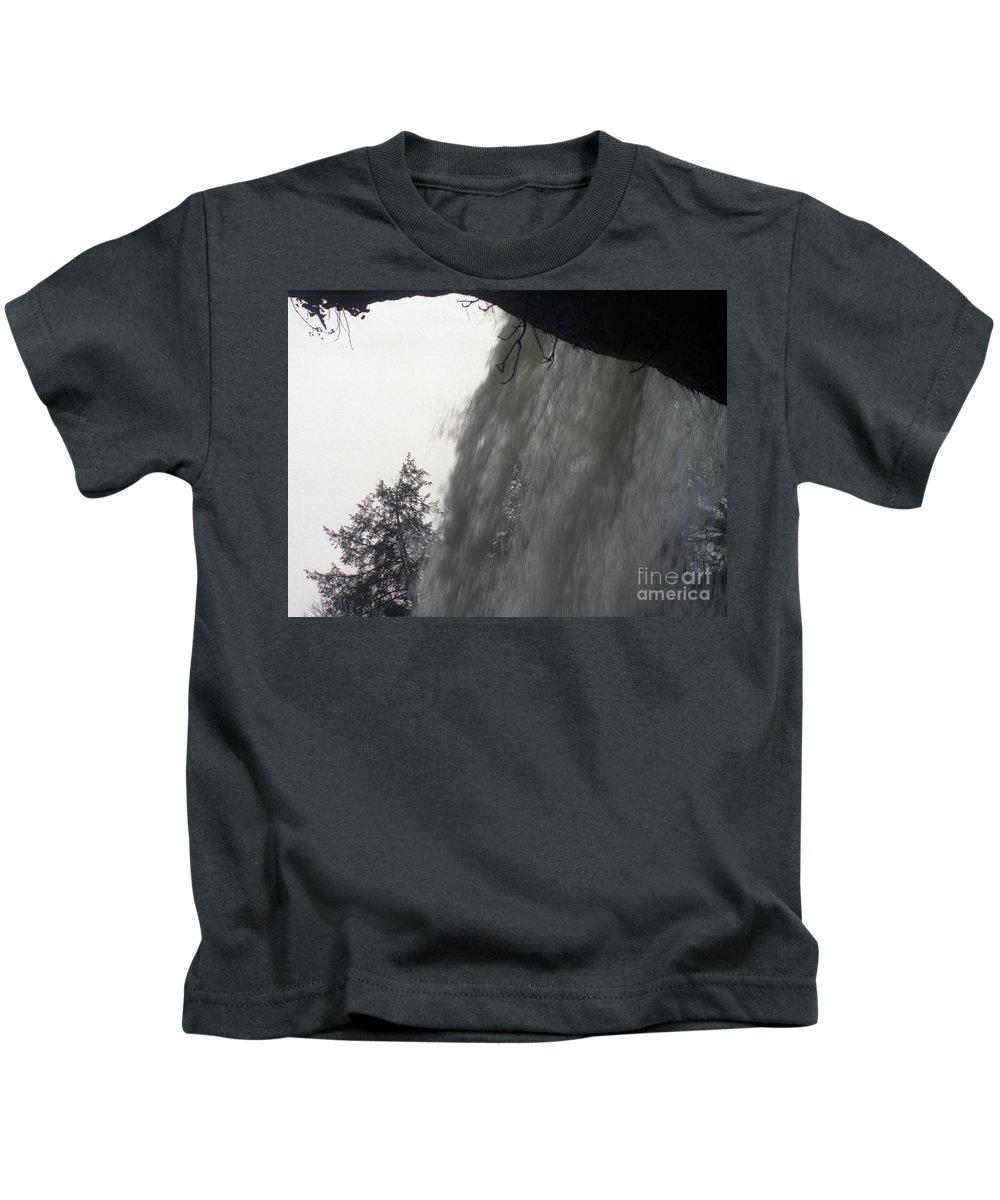 Waterfalls Kids T-Shirt featuring the photograph The Falls by Richard Rizzo