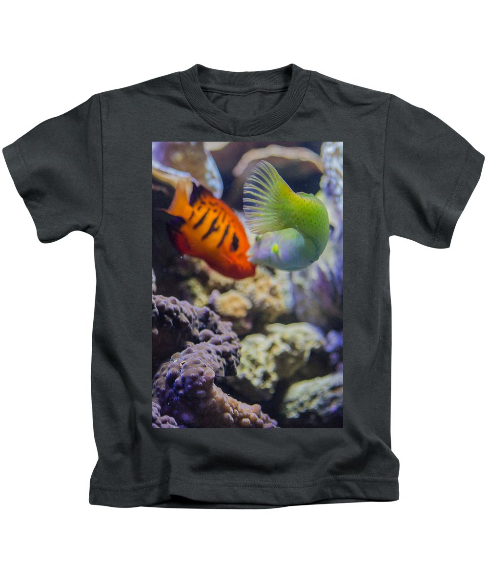 Kiss Kids T-Shirt featuring the photograph The Fish Kiss by Scott Campbell