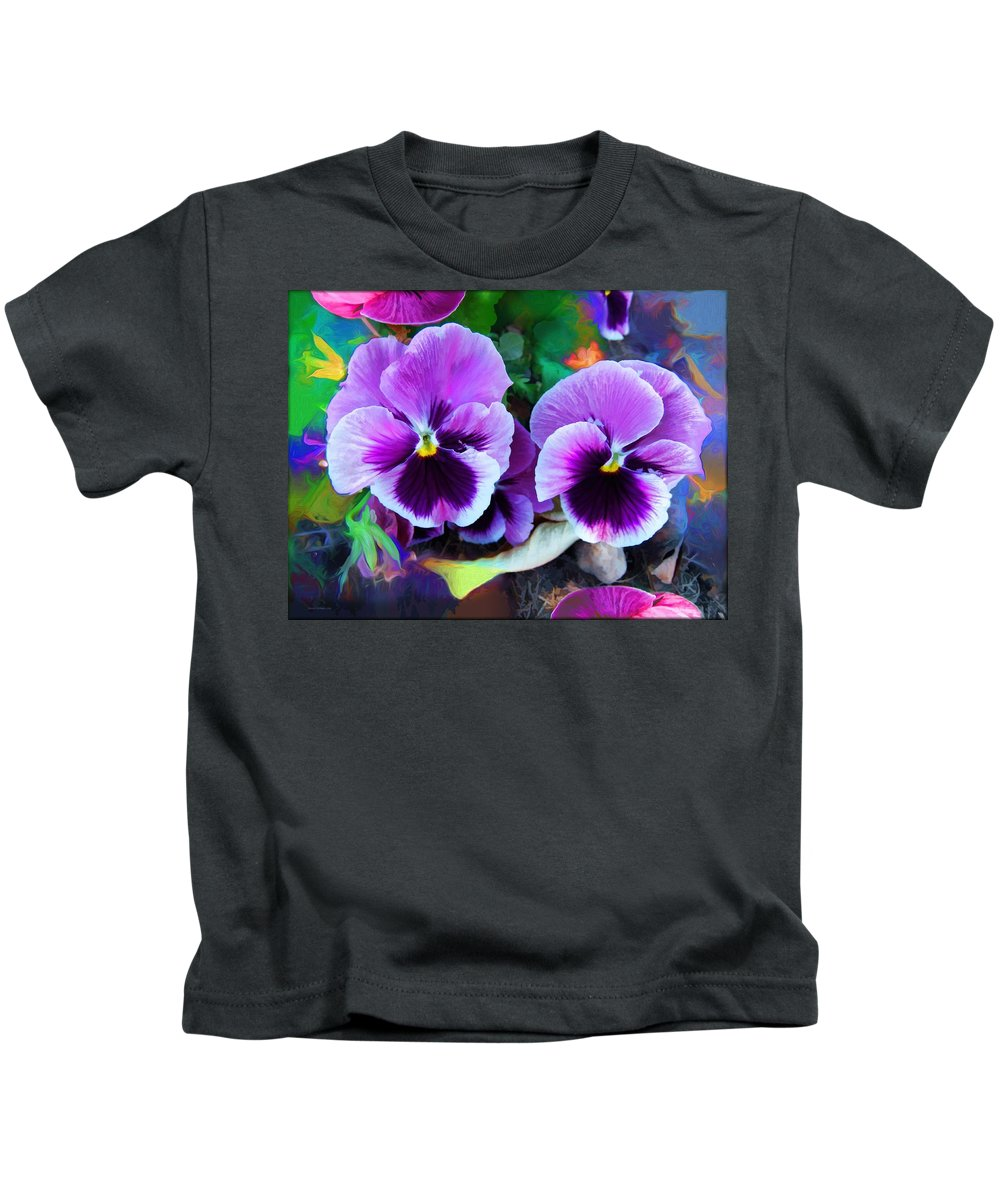 The Flowers Of Eleanor Kids T-Shirt featuring the photograph The Flowers Of Eleanor by Daniel Arrhakis