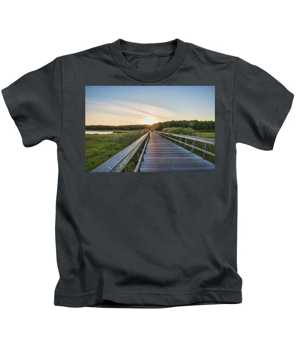 Cape Cod Kids T-Shirt featuring the photograph The Golden Hour by Karen Regan
