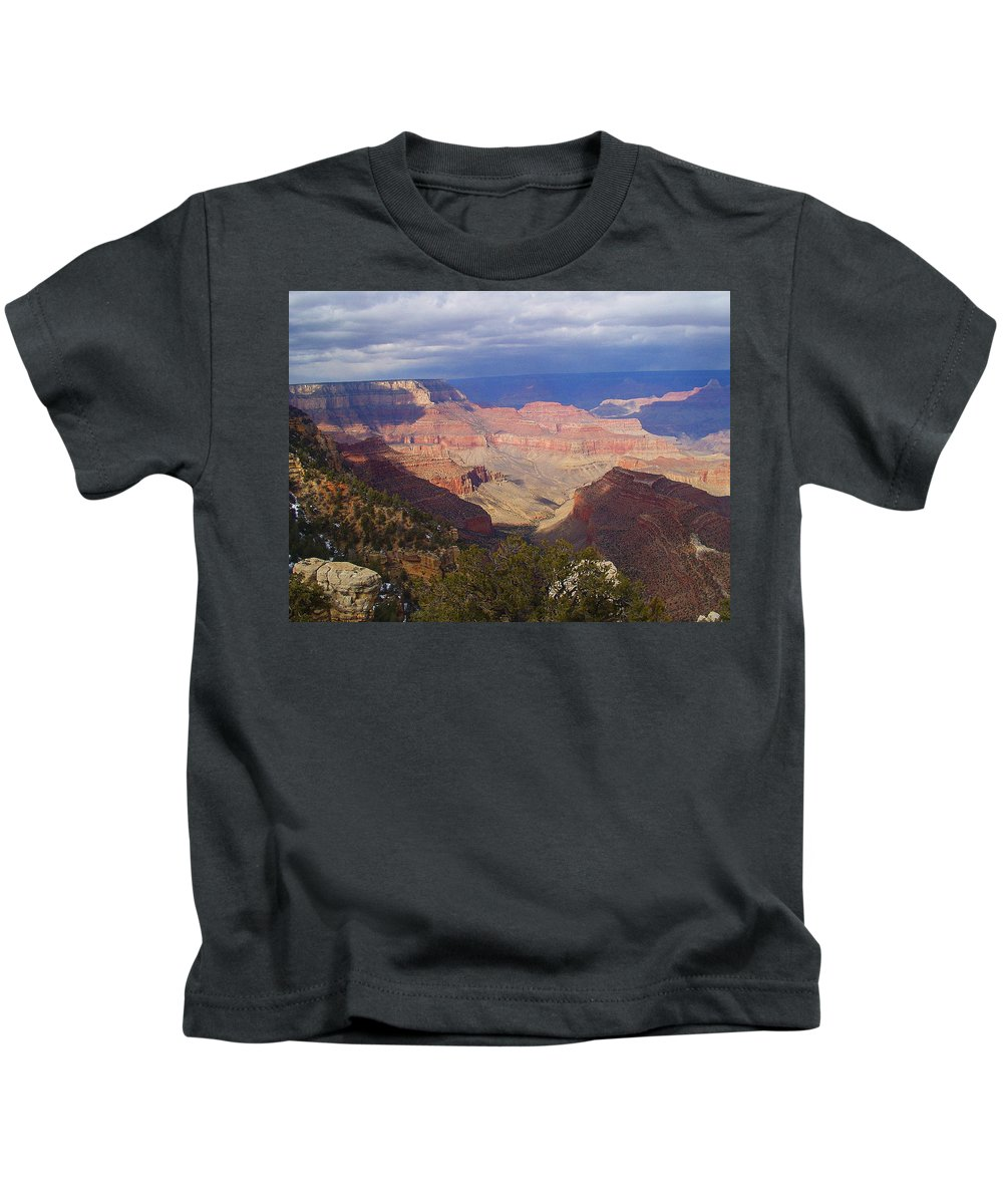 Grand Canyon Kids T-Shirt featuring the photograph The Grand Canyon by Marna Edwards Flavell