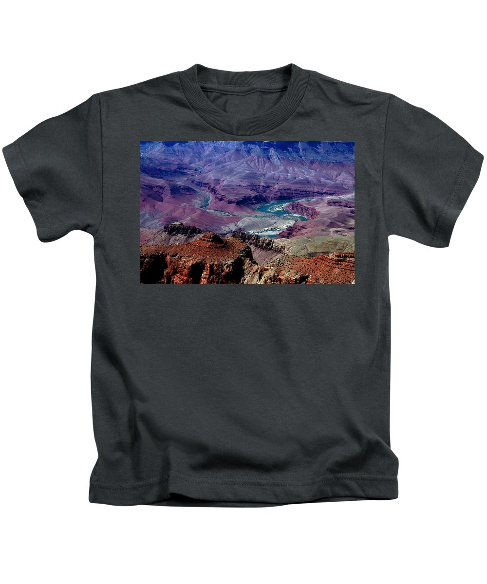 Photography Kids T-Shirt featuring the photograph The Grand Canyon by Susanne Van Hulst