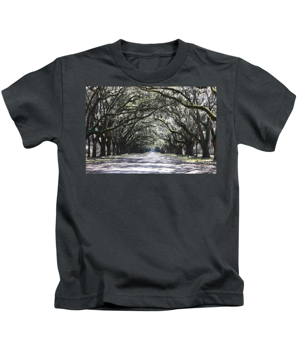 Landscape Kids T-Shirt featuring the photograph The Grand Lane by Carol Groenen
