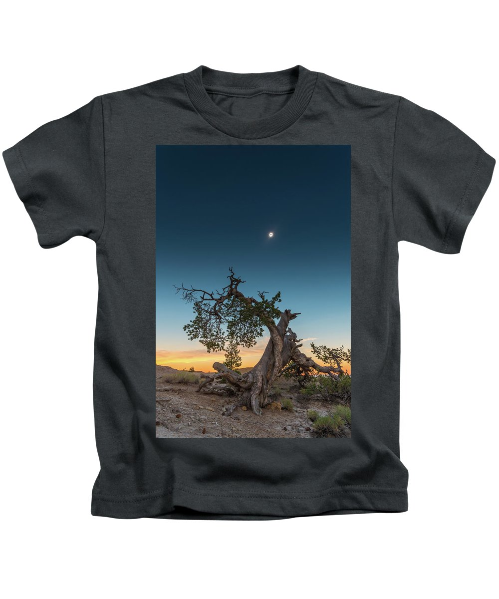 Total Solar Eclipse Kids T-Shirt featuring the photograph The Great American Eclipse On August 21 2017 by Alex Conu