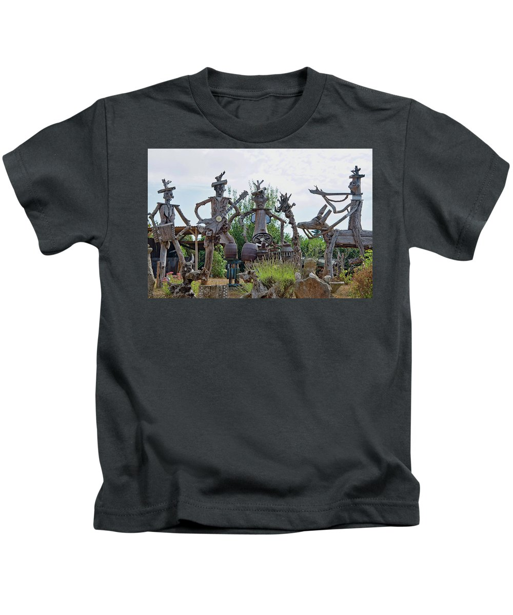 The House Band Kids T-Shirt featuring the photograph The House Band, Brittany, France by Curt Rush