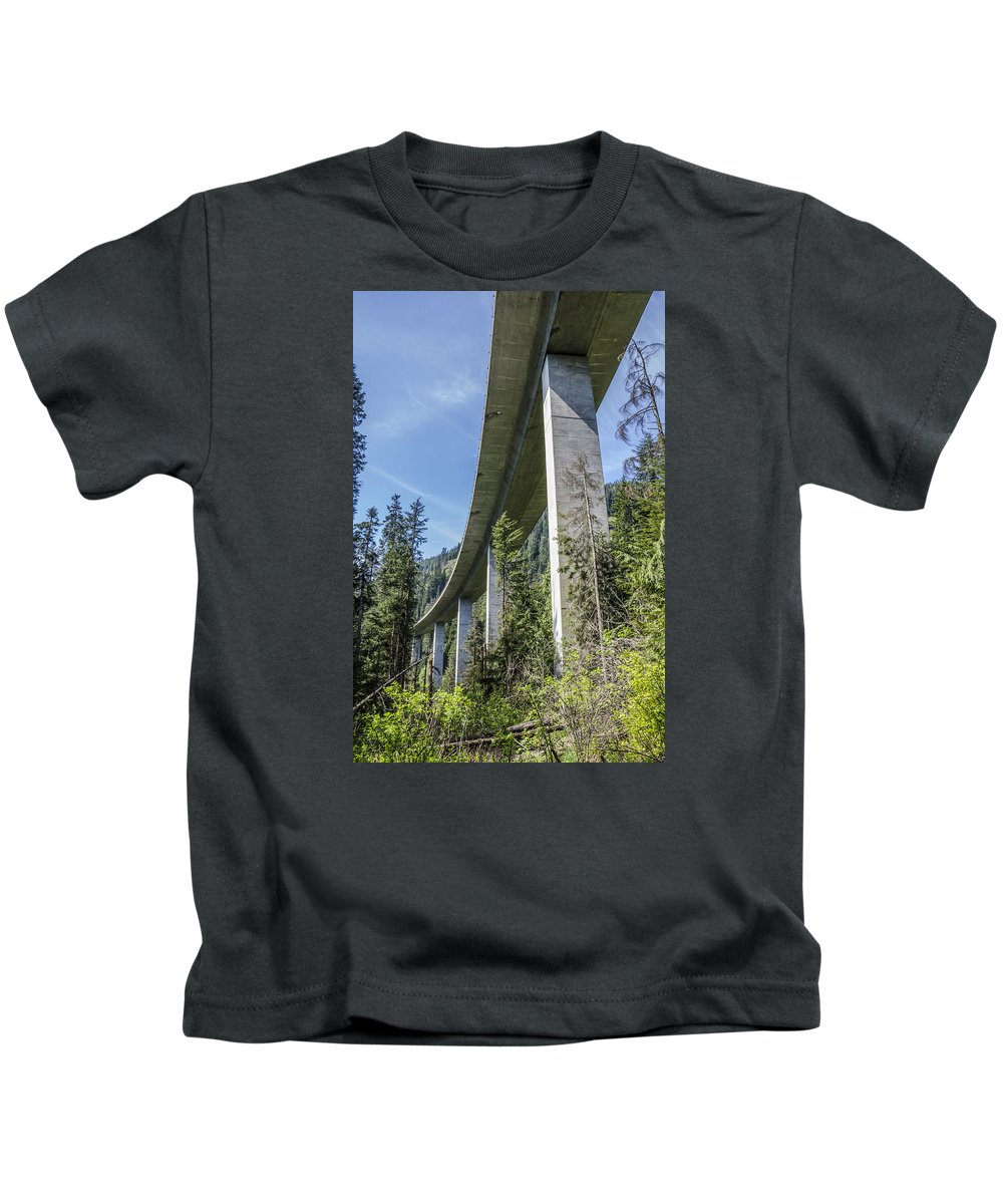 Underside I-90 Washington State Highway Forest Moon Endor Imperial Star Wars Kids T-Shirt featuring the photograph The Imperial Highway On The Forest Moon Of Endor by Pelo Blanco Photo