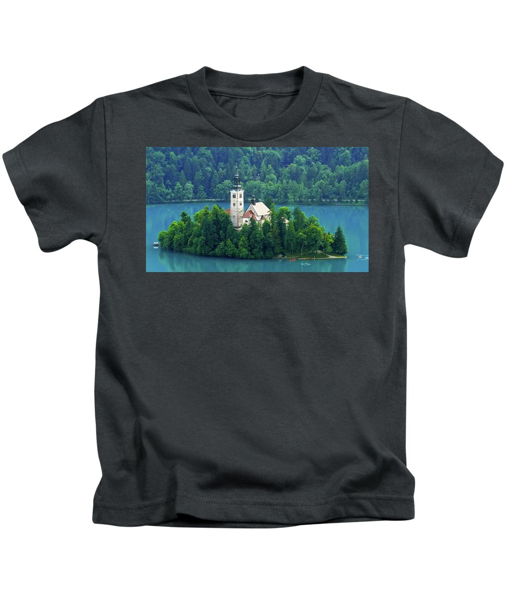 Island Kids T-Shirt featuring the photograph The Island by Daniel Csoka