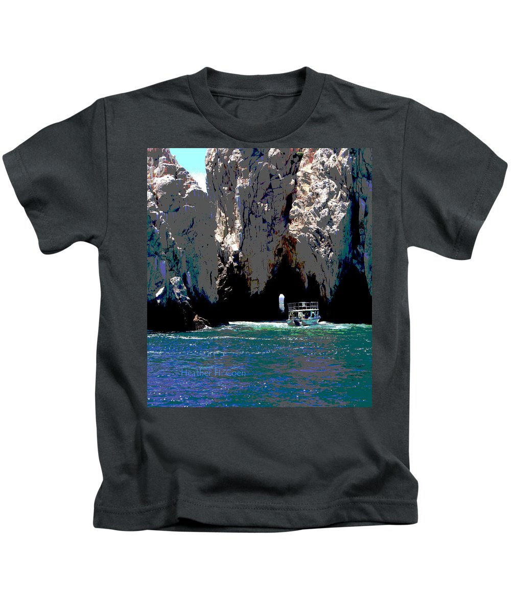 Mexico Kids T-Shirt featuring the photograph The Keyhole Mexico Cabo San Lucas by Heather Coen
