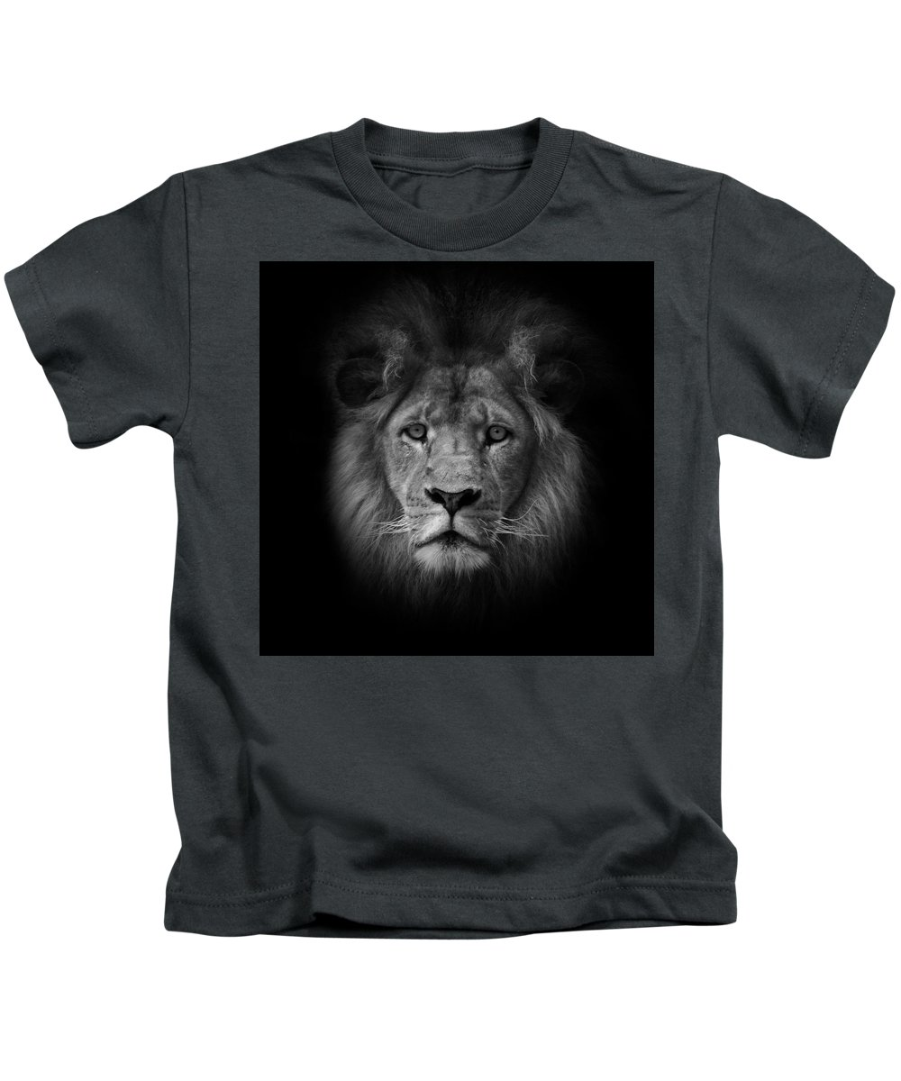 Black & White Kids T-Shirt featuring the photograph The King by Photopoint Art