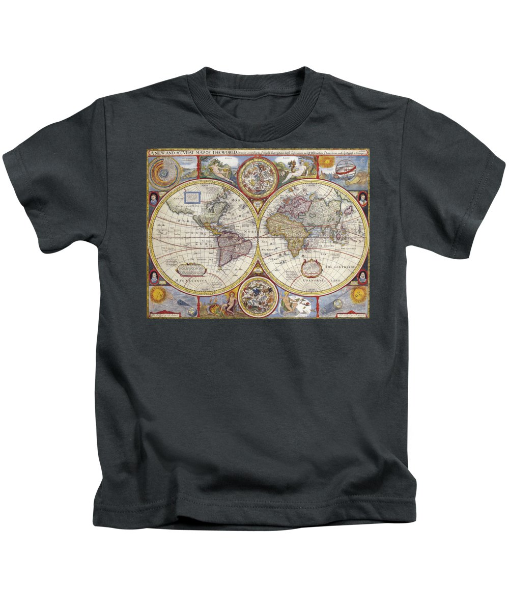 International Kids T-Shirt featuring the digital art The Known World by Frederick Holiday