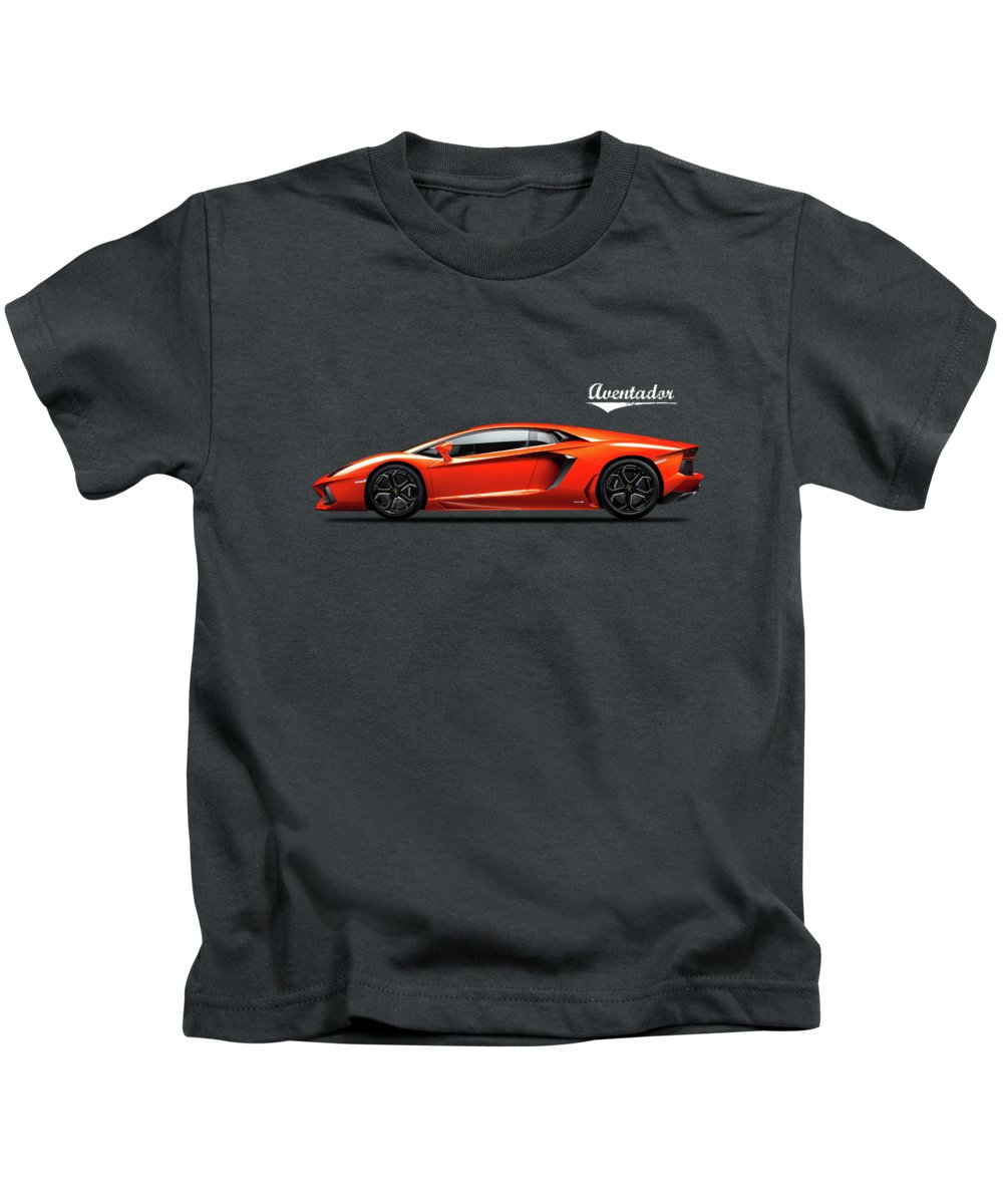 Lamborghini Aventador Kids T-Shirt featuring the photograph The Lamborghini Aventador by Mark Rogan