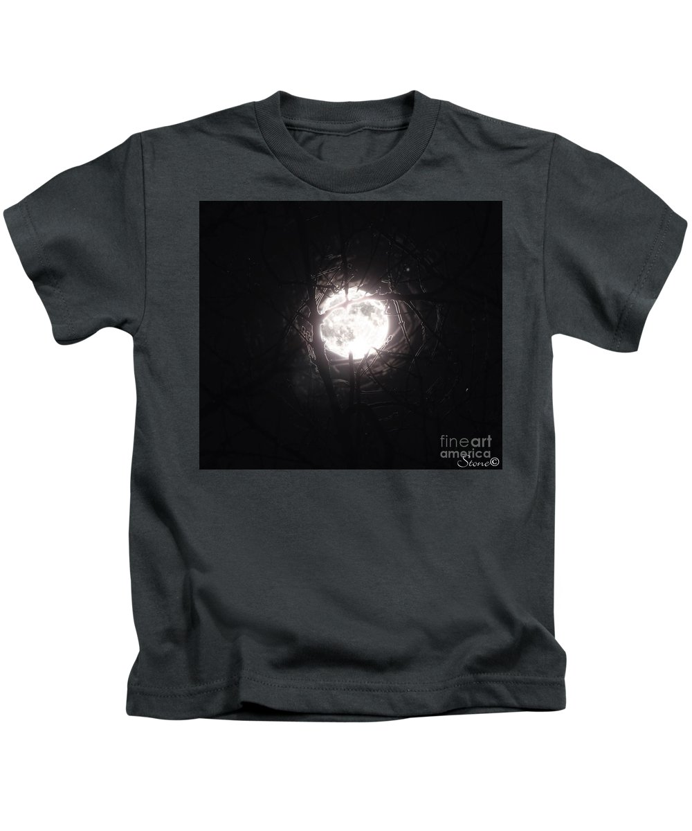 Night Kids T-Shirt featuring the photograph The Last Nights Moon by September Stone