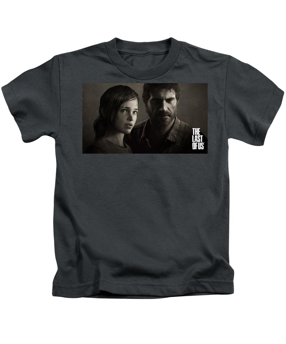The Last Of Us Kids T-Shirt featuring the digital art The Last Of Us by Dorothy Binder