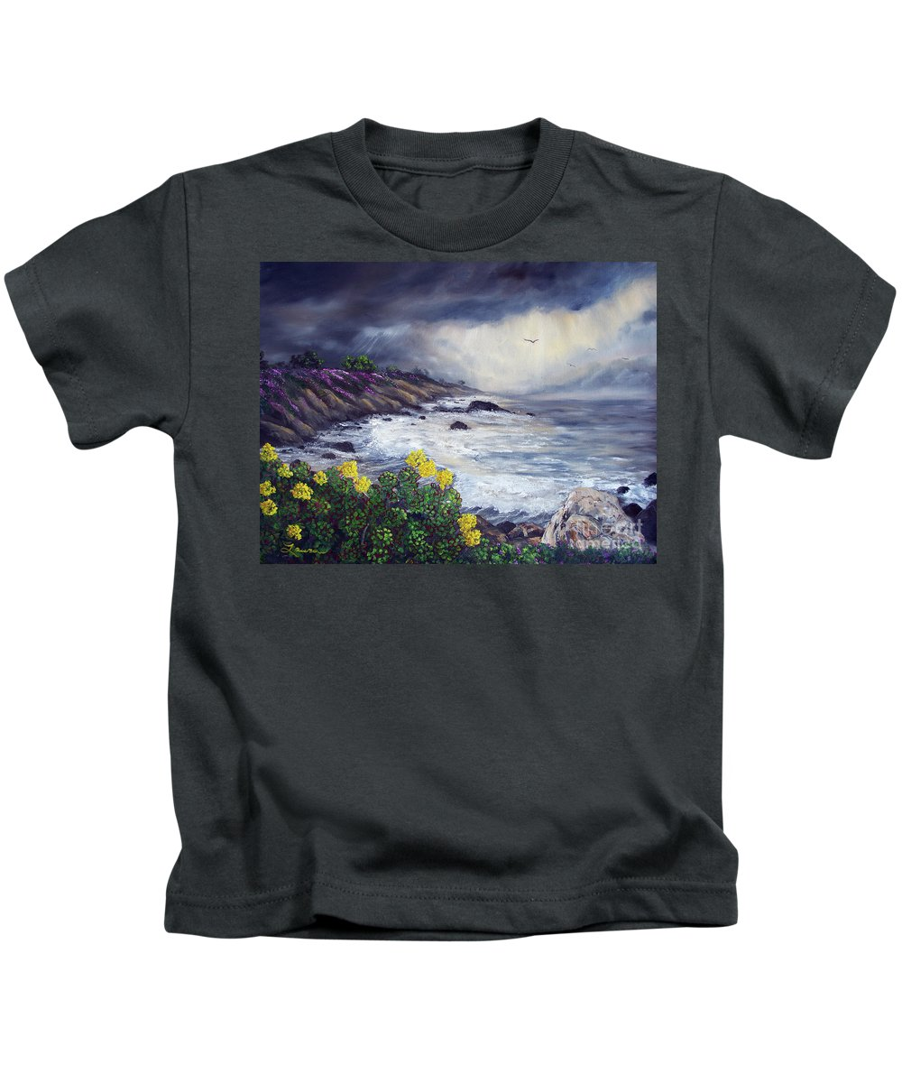 California Kids T-Shirt featuring the painting The Last Storm by Laura Iverson